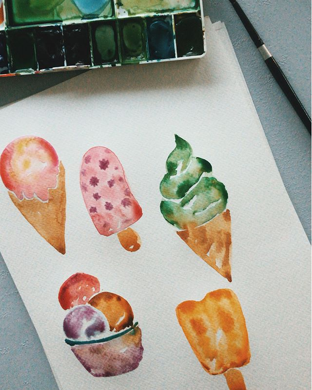 SWIPE LEFT _ Looking forward to doing two of my favourite things to do, Eat and Paint. _ This Sunday I'll be sharing on the famous Wet-on-Wet technique in painting Ice Cream.  _ Learn how you could add texture-like on your objects. _ Suitable for beginners. DM us to register. _ . #watercolour #watercoloursg #artsy #art #singapore #leaves #garden #plants #botanicalgardens #watercolourvideo #watercolorvideo #singapore #workshopsg #artsg #flower #wreath #flowerwreath #floralillustration #watercolorflorals #instagood #instadaily #floralwatercolor #artisticnation #leaf #dailyart #singapore #pansy #peony #painting #winsorandnewton #watercolor #icecream