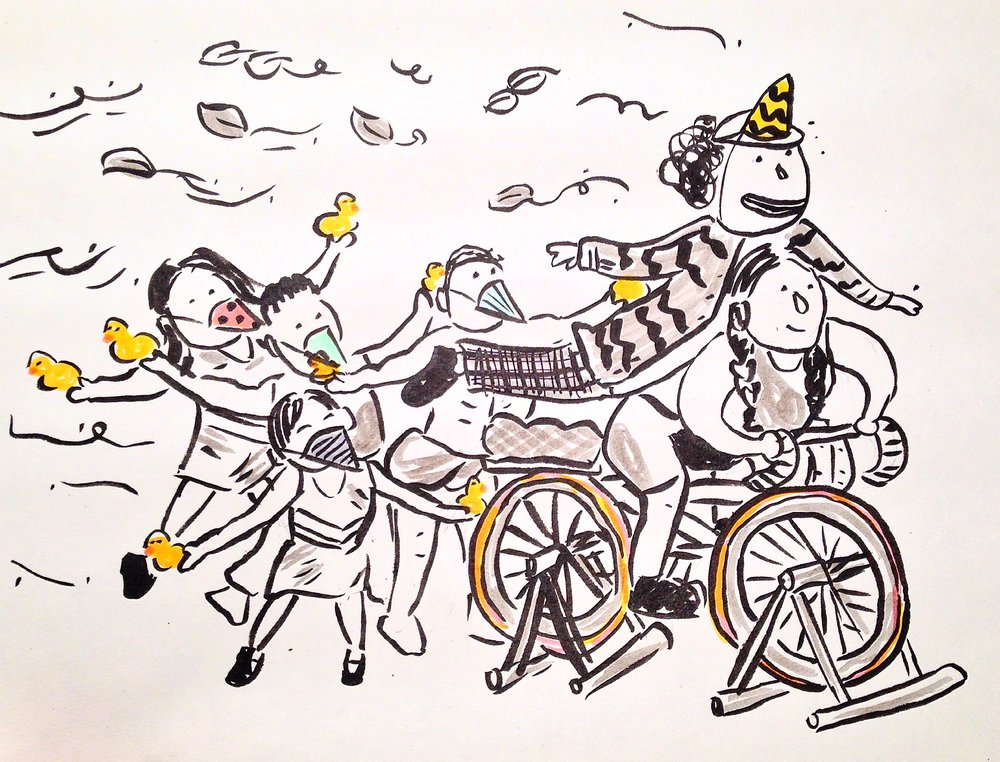 """Inspired by """"The Inconsistent Pedaler"""" by Pilobolus Dance Theater"""