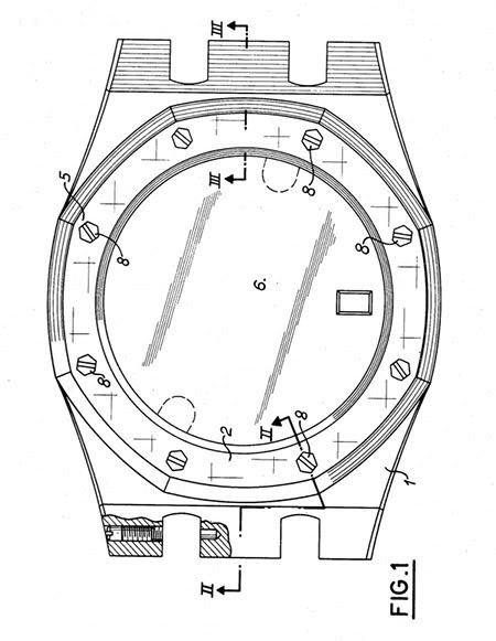 The Royal Oak watch case by Gérald Genta.