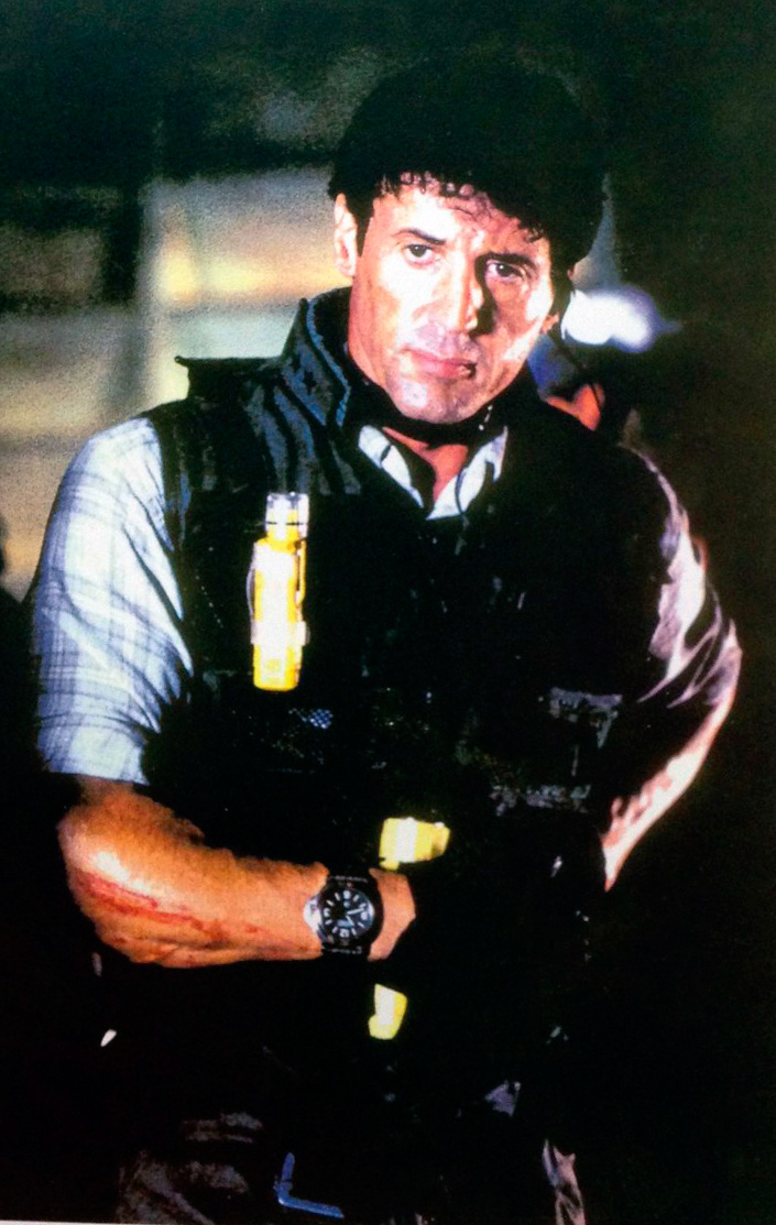 Actor Sylvester Stallone as Kit Latura in the 1996 movie Daylight, credit Universal Pictures