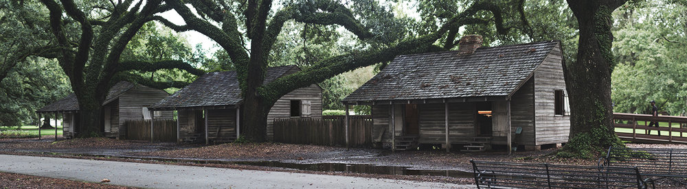 Image: Slave cabins   at Oak Alley Plantation    Published, 2017
