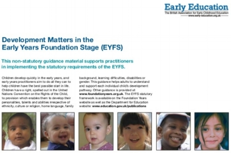 Development Matters in the Early Years Foundation Stage (EYFS) -