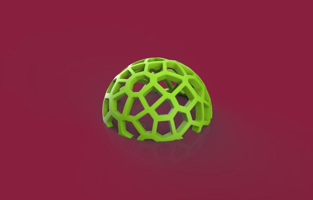 Voronoi created using Grasshopper, a Rhino plug-in to build generative algorithm for parametric design modeling