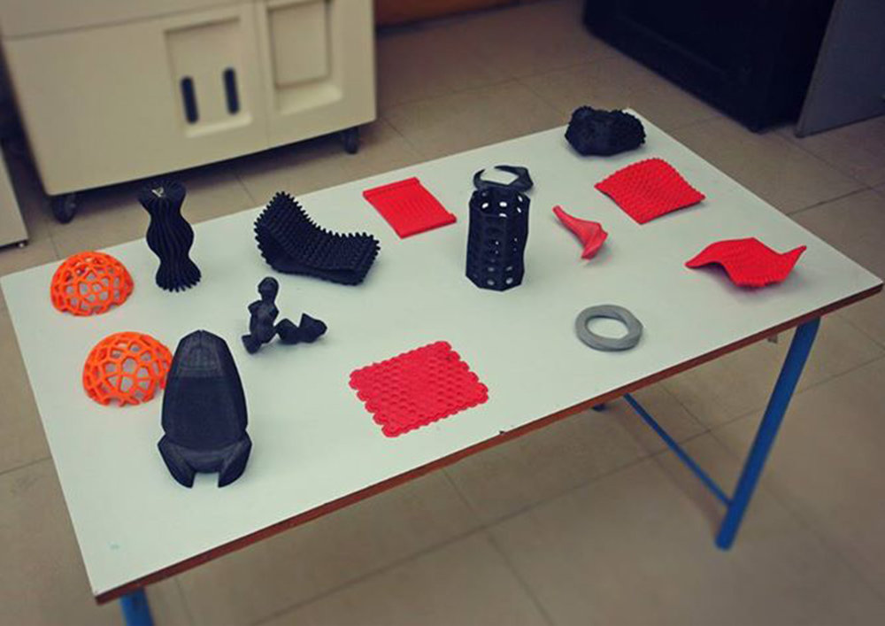3D printed objects from the parametric design exercises