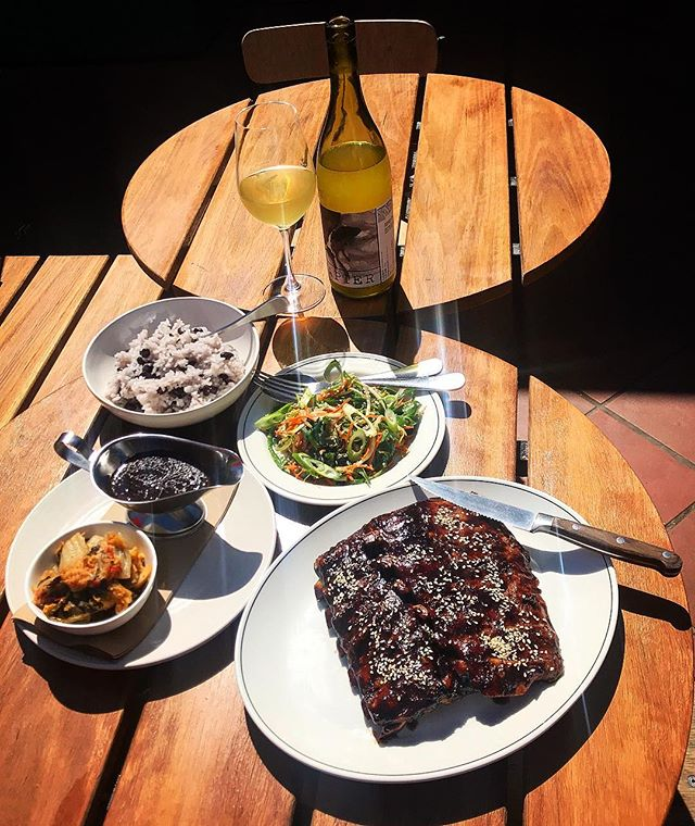 MEAT-UP: Glazed Pork Ribs w Black Bean Sauce, Spicy Cabbage & Steamed Rice $45 (serves 2)... all weekend - until sold out