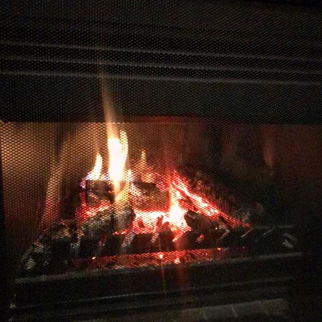 Cold outside - warm by the 🔥