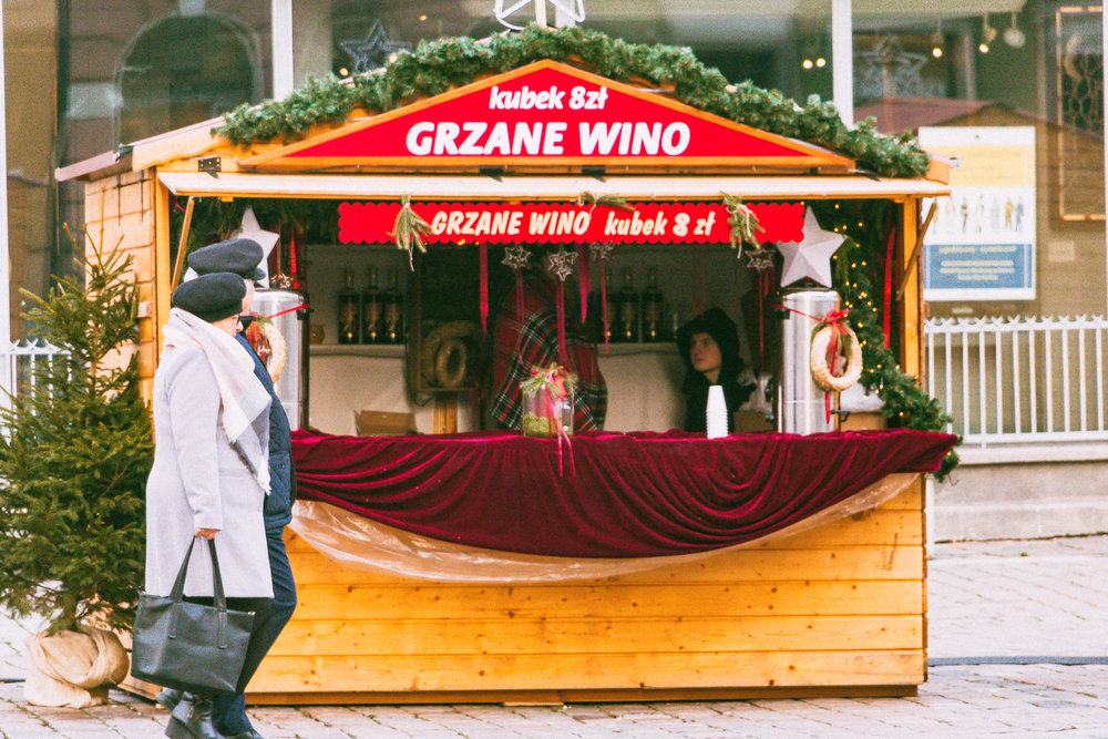 Mulled wine at Poznan's Christmas market