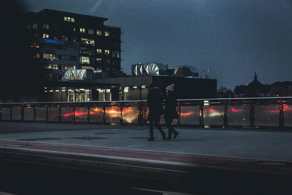 Night walks in Poznan