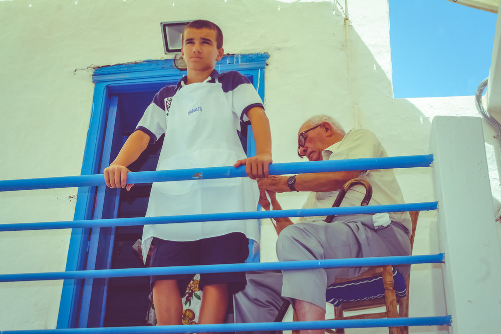 Grandfather & grandson in Kasos