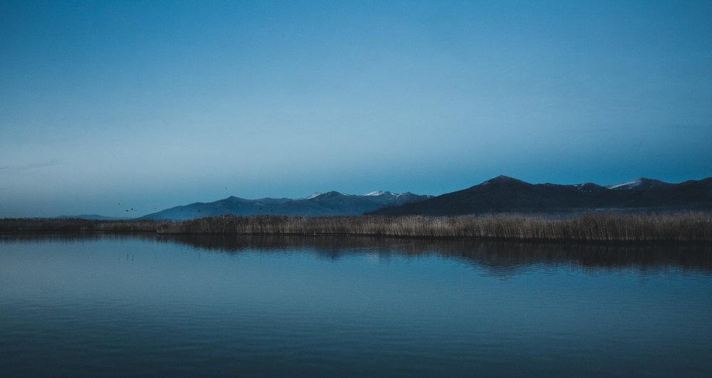 Οι δύο λίμνες - Πρέσπες ⌢ Μακεδονία