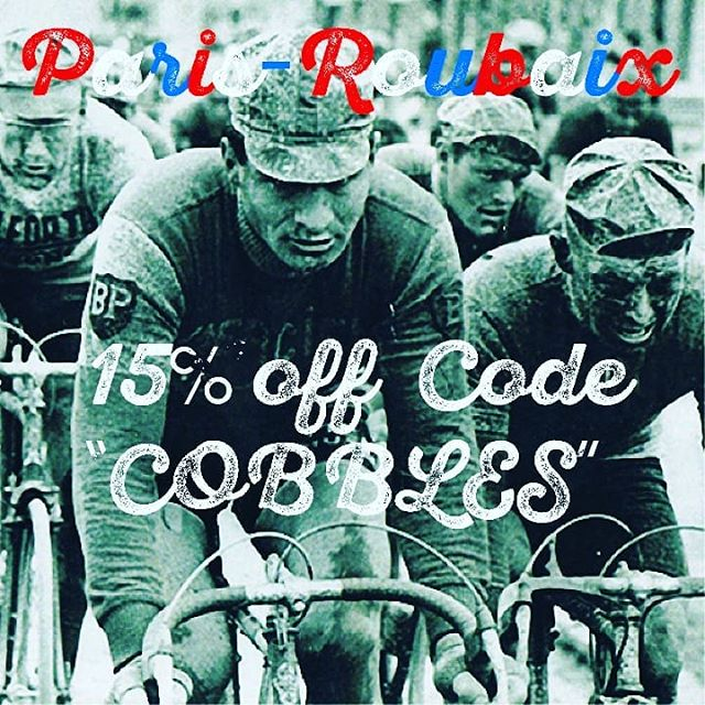 Celebrate another Sunday in Hell with 15% off at www.tinpony.cc #parisroubaix #cycles #cyclinglife #cobbles #cyclewear