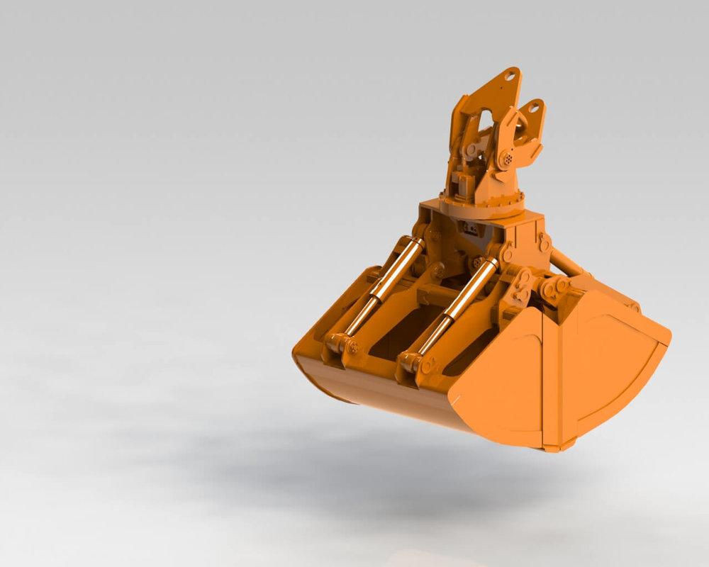 BLESTE Hydraulic dual scoop grab БЛЕСТЕ гидравлический двух челюстной грейфер.JPG