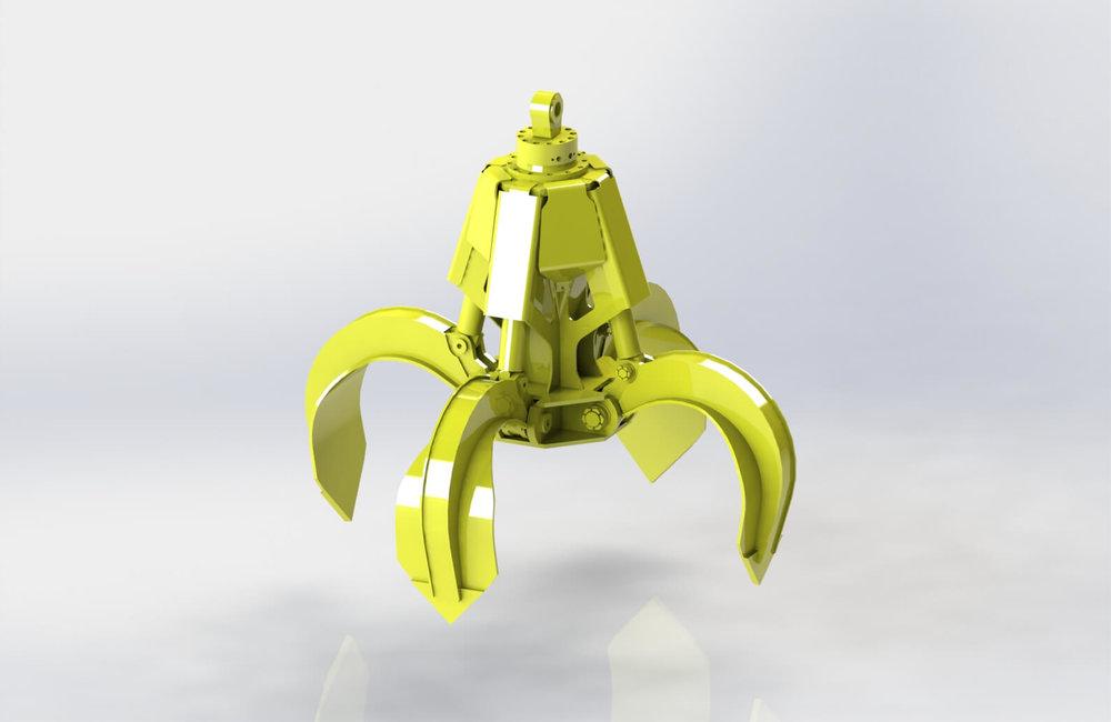BLESTE Orange-Peel hydraulic grab БЛЕСТЕ гидравлический многочелюстной грейфер .JPG