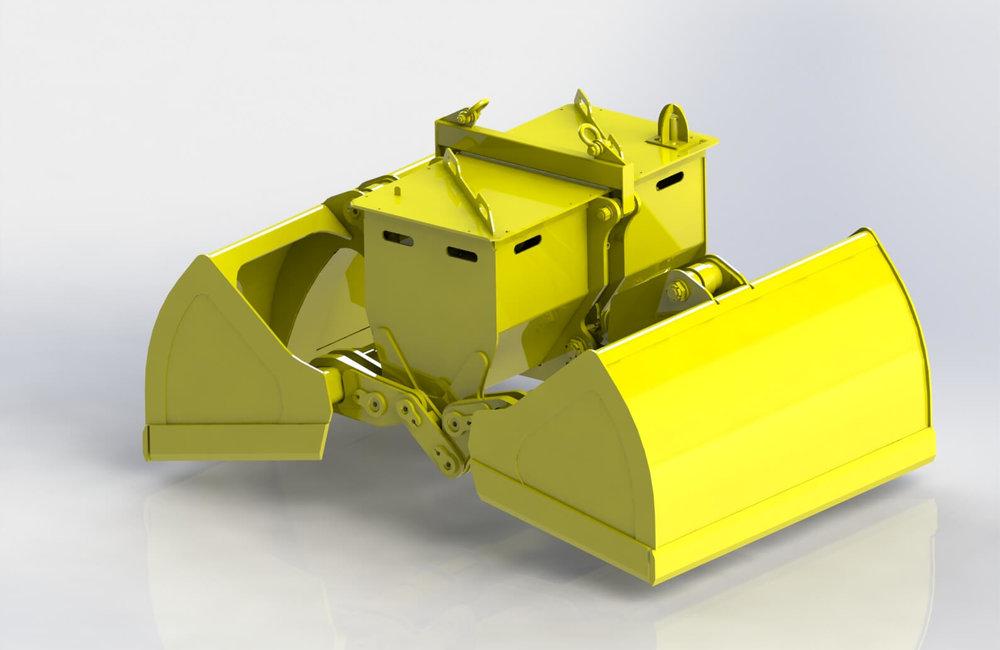 Bleste Diesel Electro-hydraulic grab Блесте дизель электро гидравлический грейфер.JPG