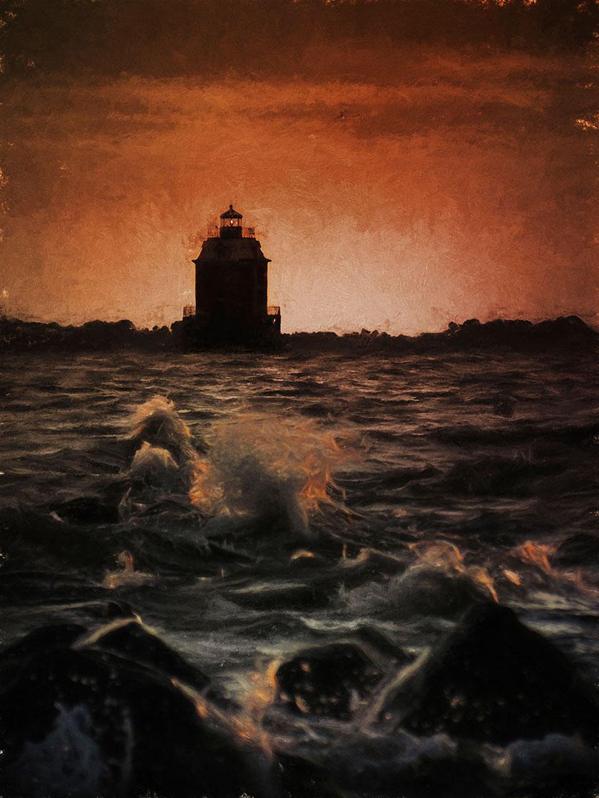 Study of Sandy Point Lighthouse - Archival Pigment Print on Hahnemühle Fine Art Rag24