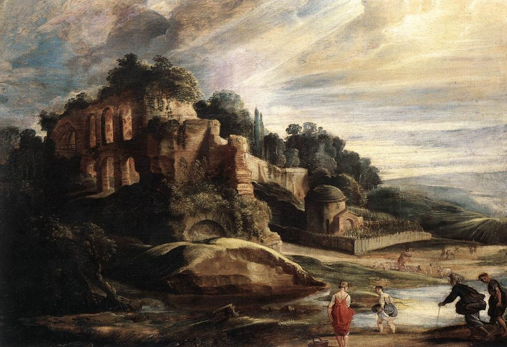 Peter Paul Rubens, C. 1608 Landscape with the Ruins of Mount Palatine in Rome