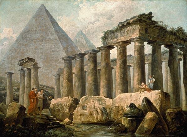 Pyramid and Temples Hubert Robert, 1780