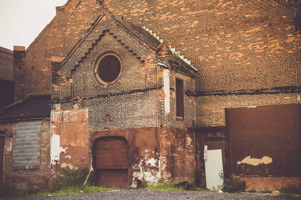Behind an old church Photo: Rose Anderson, August 2018