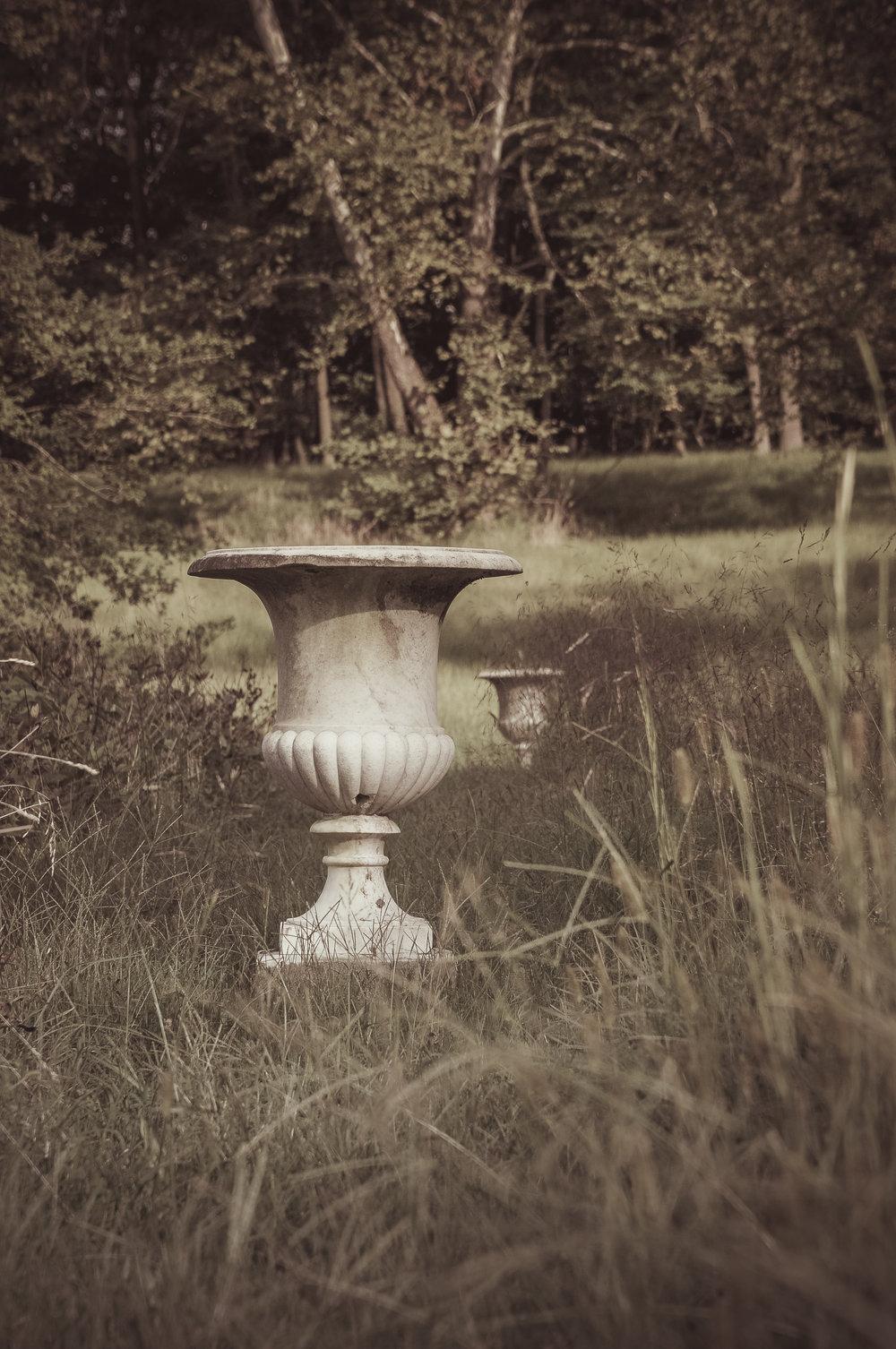Slaveholder's Marble Garden Urns Photo: Rose Anderson, September 2018
