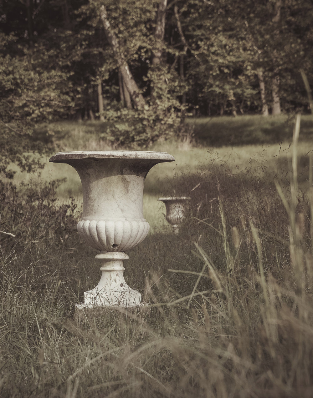 Marble Urns in the Slaveholder's Garden