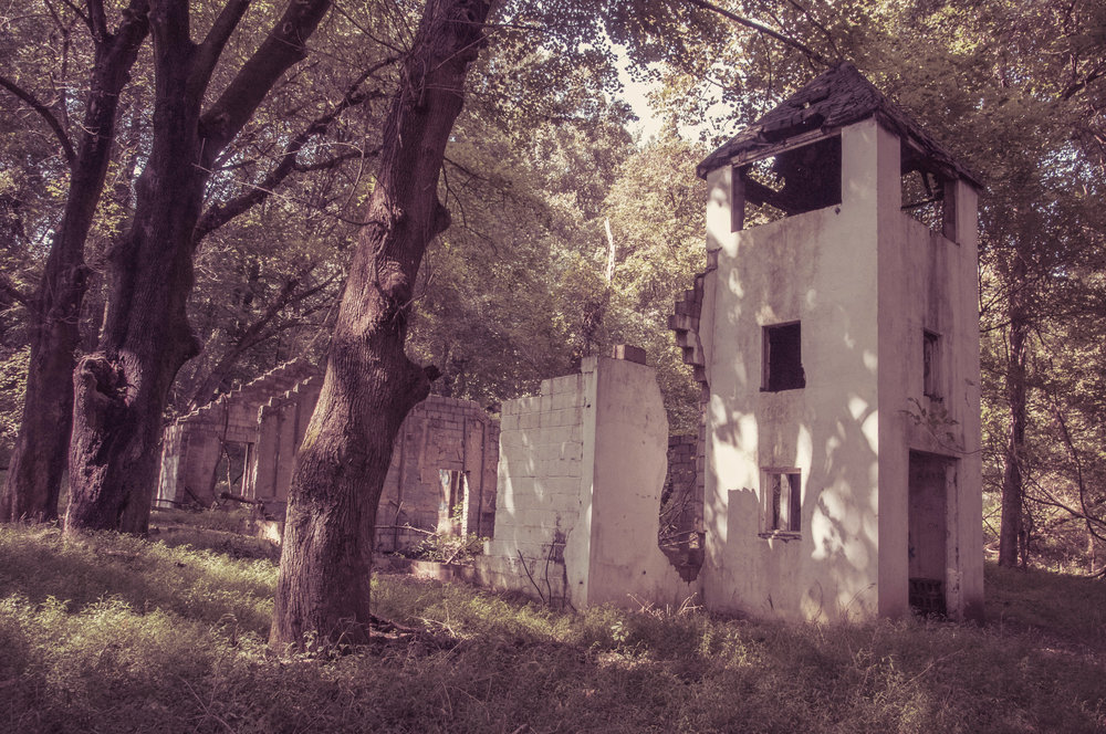 Ruin in the ghost town of Daniels, Maryland Patapsco State Park Photo: Rose Anderson, 2017