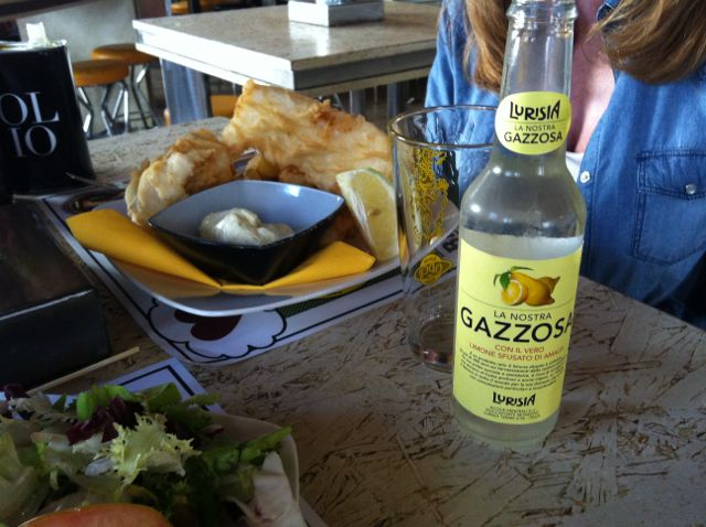 Letizia had the fish and chips with homemade may with lime and ginger (2).jpg
