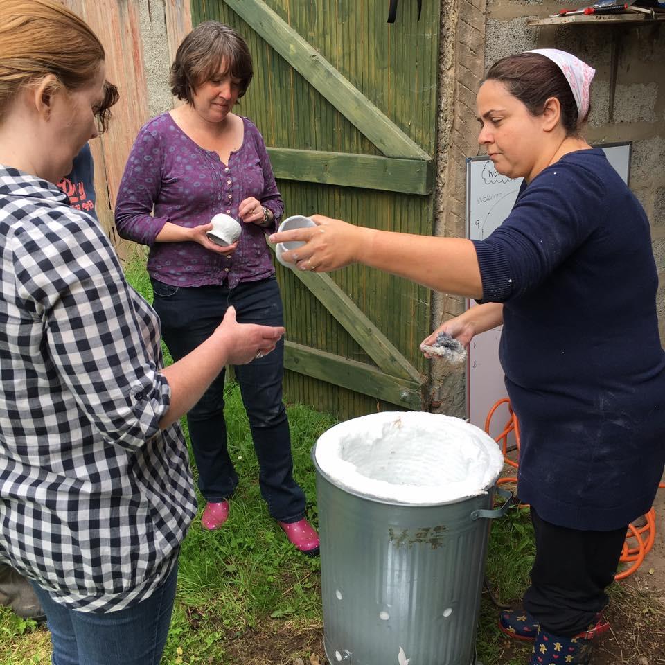 Getting the kiln ready