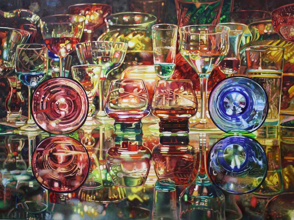 Cordials , oil on canvas, 48x36""