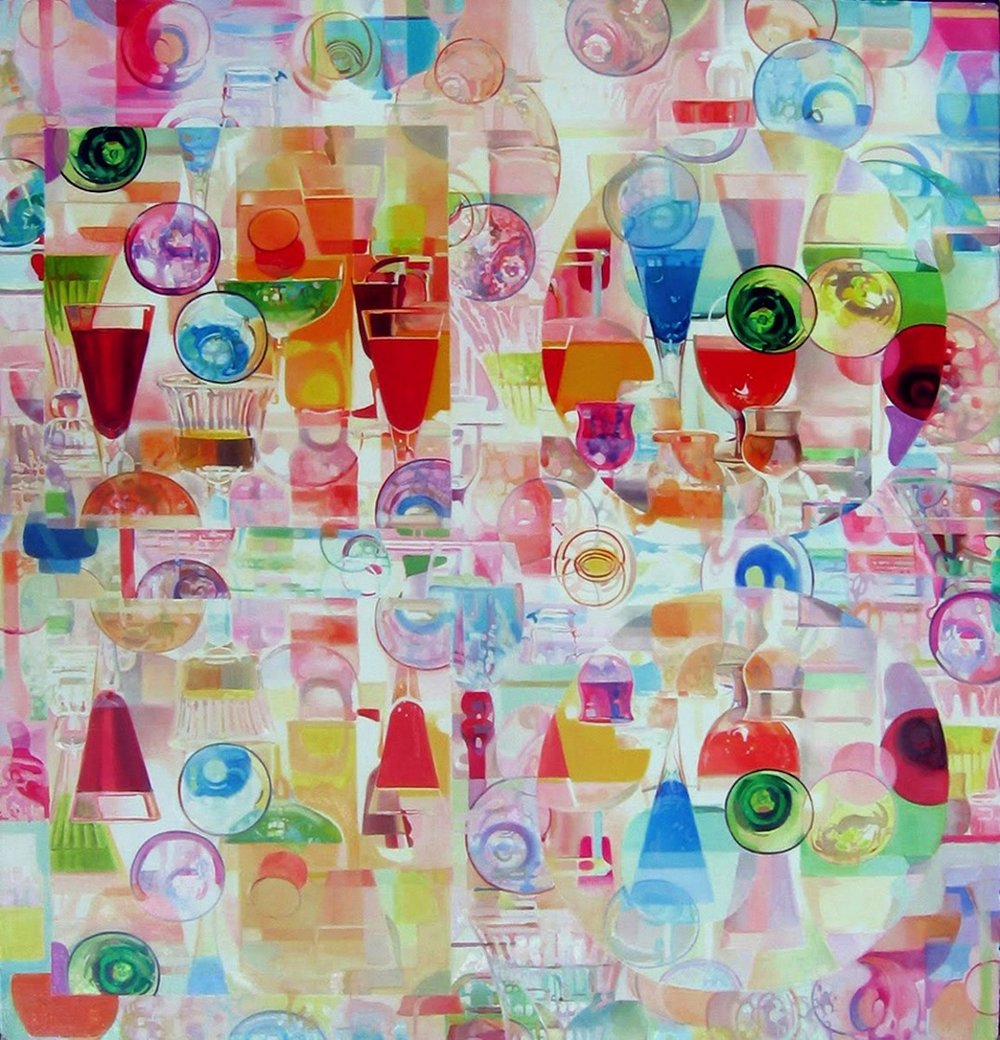 Square and Circle , oil on canvas, 52x54in, 2006
