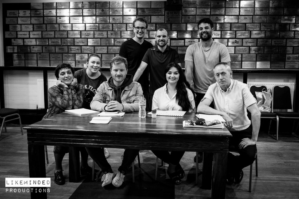 Back left to right: Andrew Smith ( Producer ), Christopher Woodward ( Writer & Director ), Ashley Ali ( Producer ) Front left to right: Maggi Green (Patricia), Meg Kay, Grant Ryan Lenton (Jasper King), Kate Chappell (Iris Langley), Bob Towers (Jeremy)