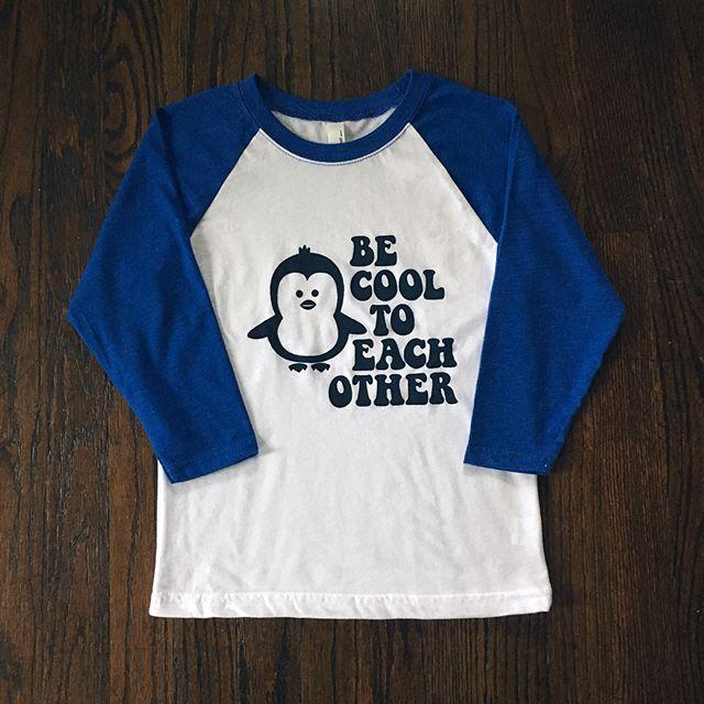 #becooltoeachother #becool #kidstee #kidstees #kidsclothing #heuristic_tee #penguintee #penguin #kidstyles #tshirt #screenprint #tee