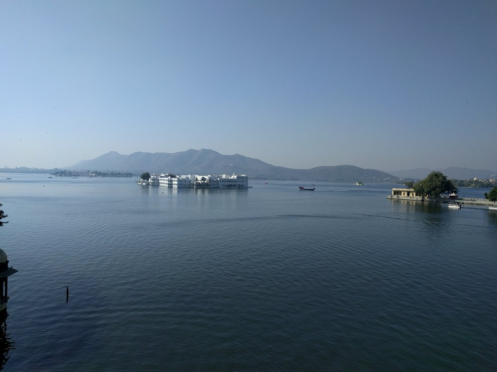 Picturesque Lake Pichola in Udaipur, famous for scenes of the James Bond Octopussy film