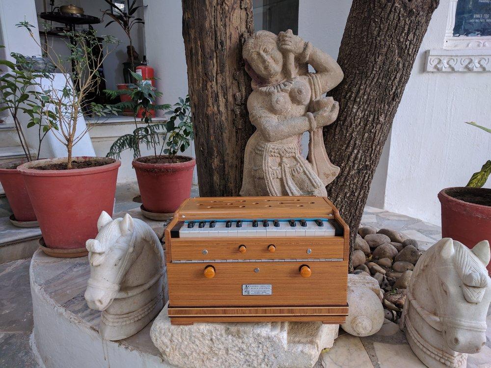 Harmoniums and religious statuary