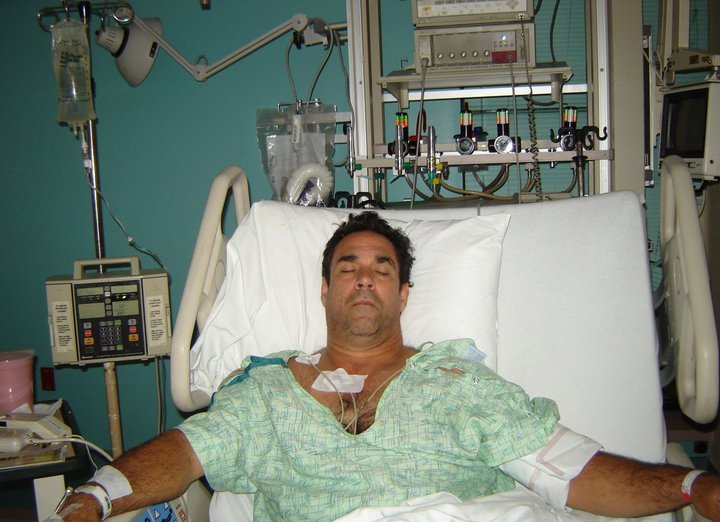 Me after the cerebral hemorrhage in 2006.