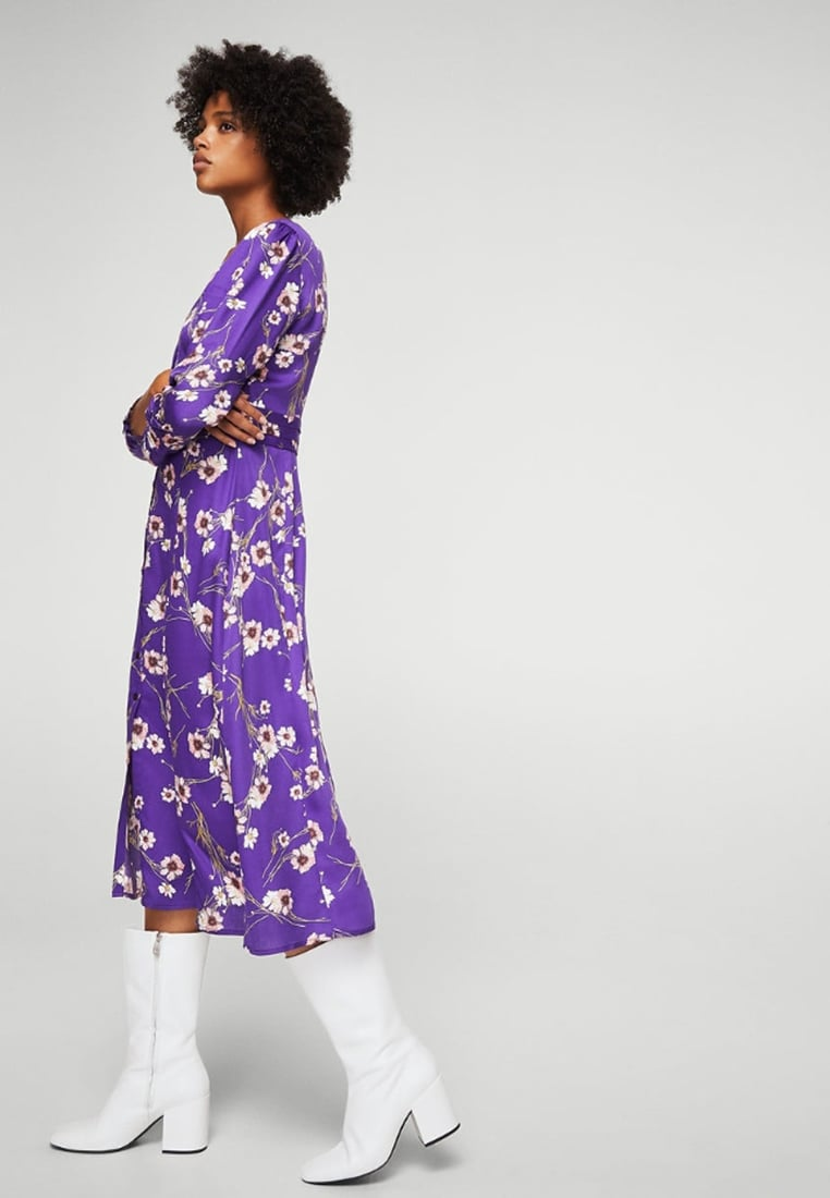 Mango Adela dress purple dress pantone ultra violet rhoyally chic uk style blogger