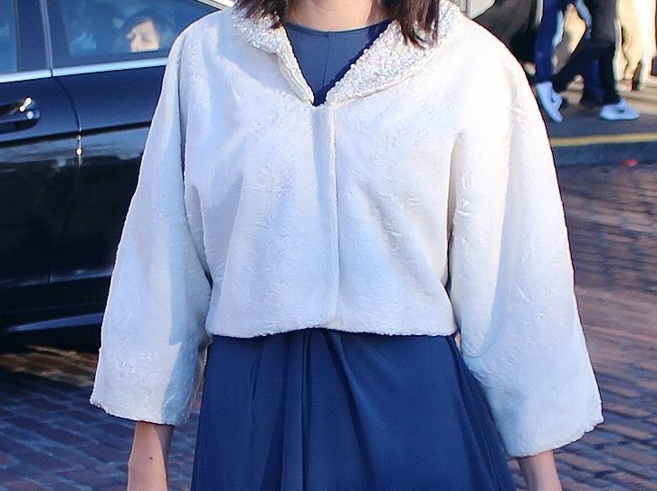 Rhoyally Chic NE UK Style Blogger White Vintage 1950s Cropped Coat New Years Eve Look