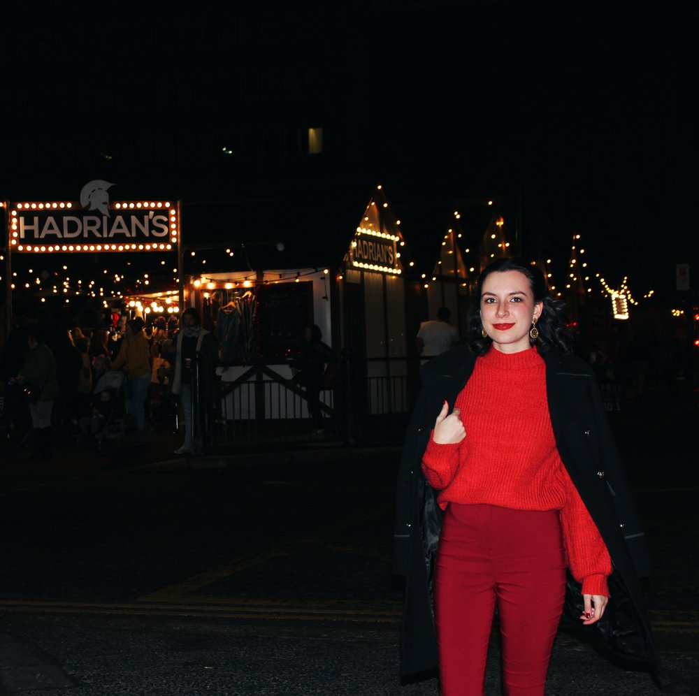 Rhoyally Chic Newcastle Christmas Market NE UK Style blogger classic style on a budget