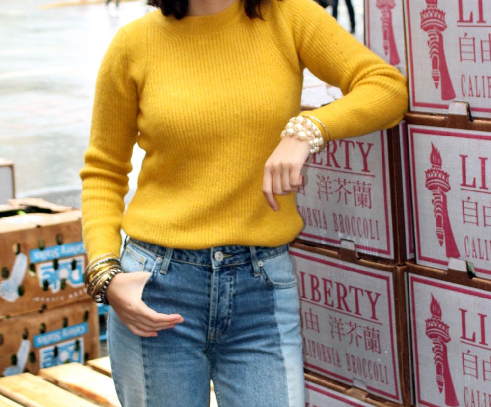 Rhoyally Chic Two-Tone Denim Jeans