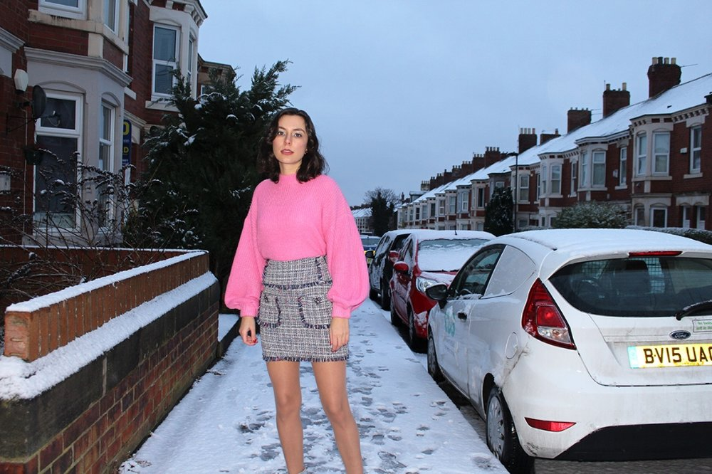 Spring tweed skirt from Zara