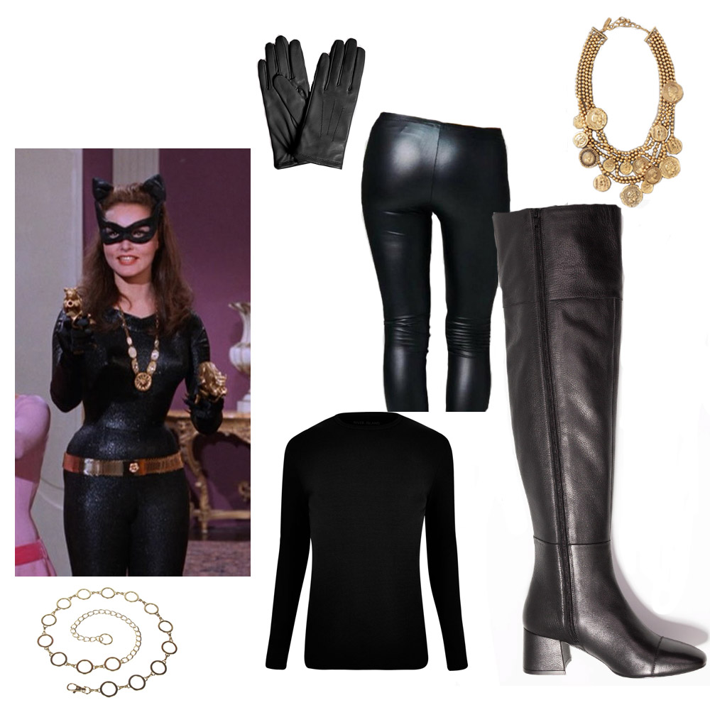 Catwoman Last Minute Halloween Costume