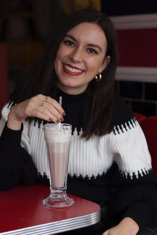 Milkshake gifted by Rivers Hotel in Gateshead, UK.