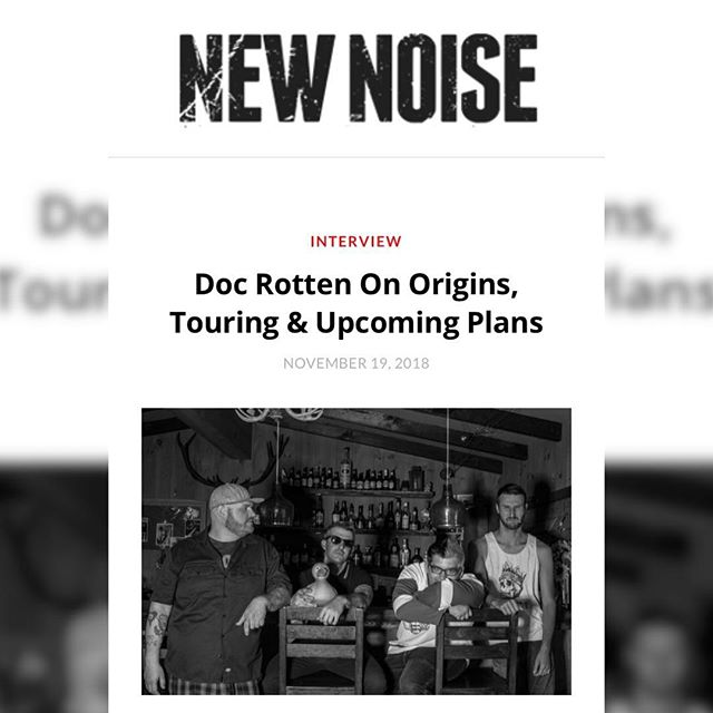 Thanks to @newnoisemags for a great interview. https://newnoisemagazine.com/doc-rotten-origins-touring-upcoming-plans/  #newnoisemagazine #interview #punk #rock #music #docrotten