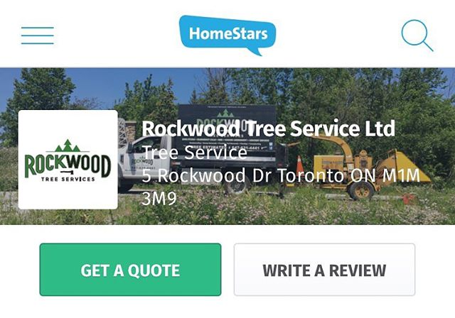 Did you know Rockwood Tree Services has a 99% rating on @Homestars! Leave a comment or rating and let us know how our service was! ✅  https://homestars.com/companies/2860037-rockwood-tree-service-ltd?show_review=310489