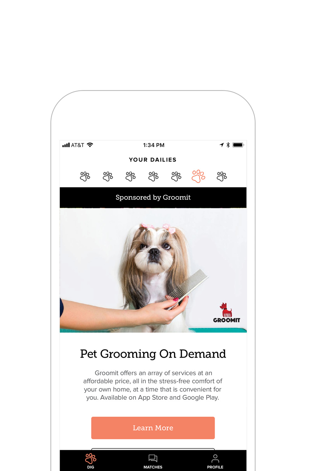 daily deals - Grass to pee on inside, funky dog tags and funny costumes. Grooming services that come to you. Volunteer opportunities! Learn about products and businesses that you and your pup will love.