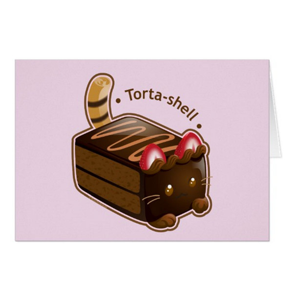 Tortashell Greeting Card   on Zazzle  Starting at $2.95