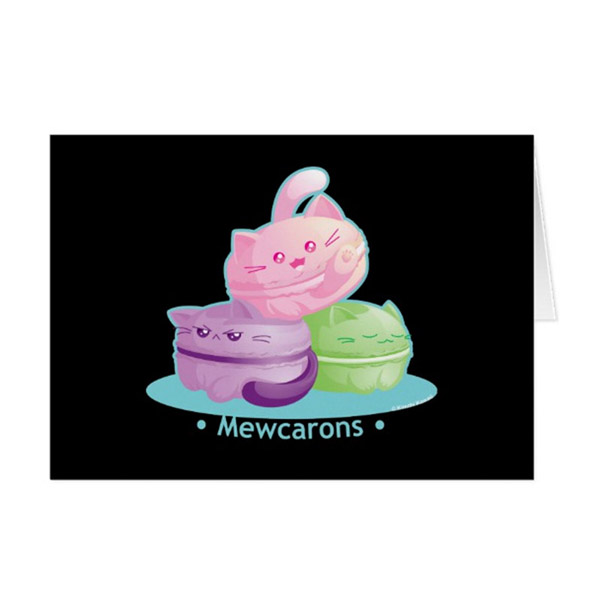 MewCarons Greeting Card on Zazzle Starting at $2.95