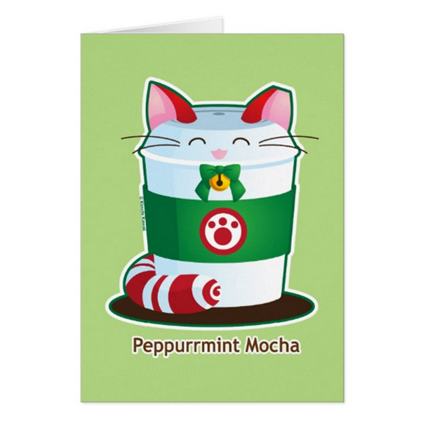 Peppurrmint Mocha Greeting Card on Zazzle Starting at $2.95