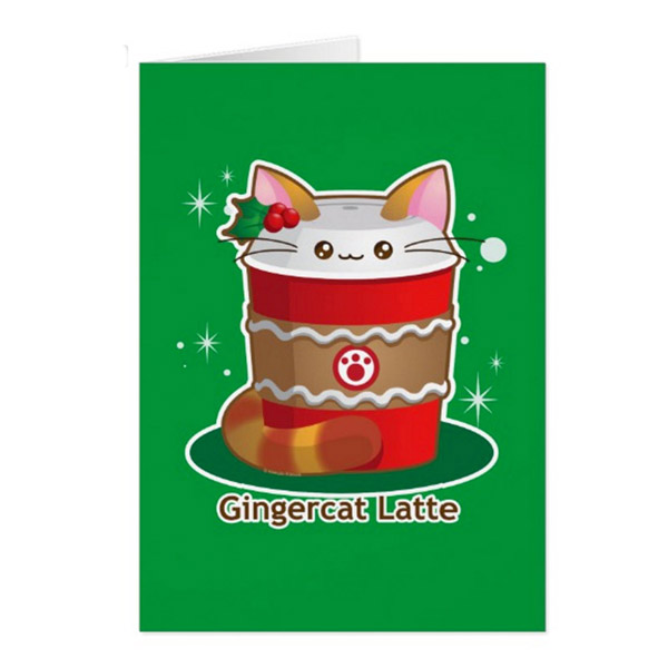 Gingercat Latte Greeting Card   on Zazzle  Starting at $2.95