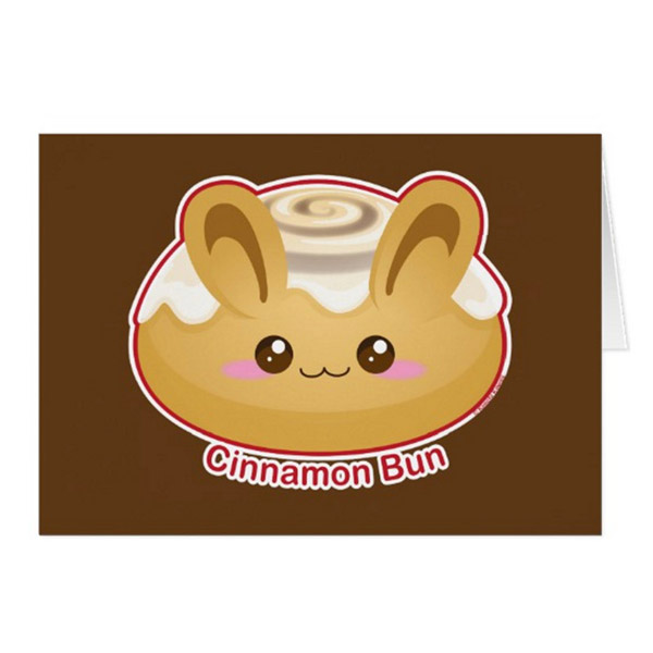 Cinnamon Bun Greeting Card      on Zazzle  Starting at $2.95
