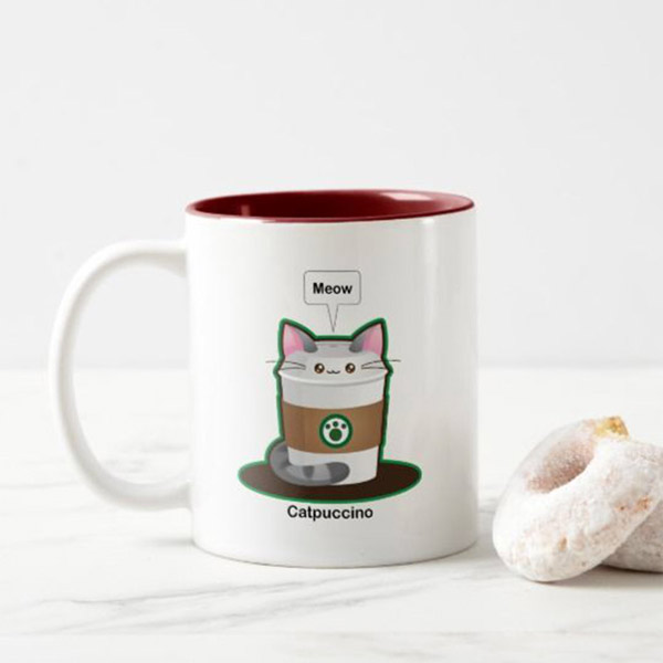 Catpuccino Mug   on Zazzle  Starting at $17.75